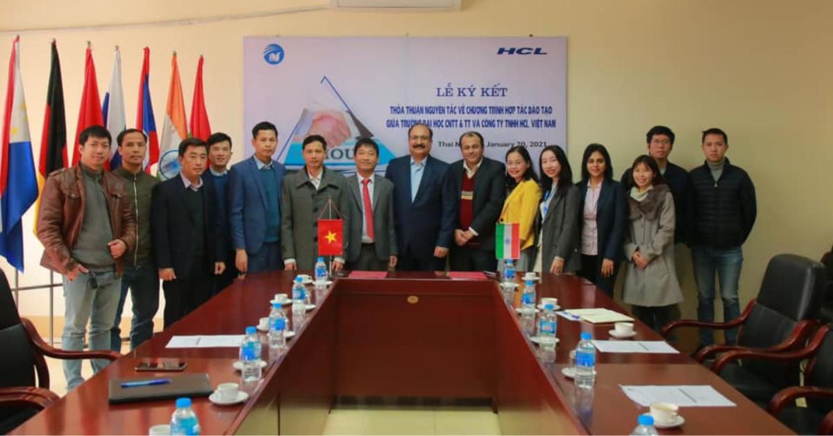 Ký kết hợp tác ICTU và HCL