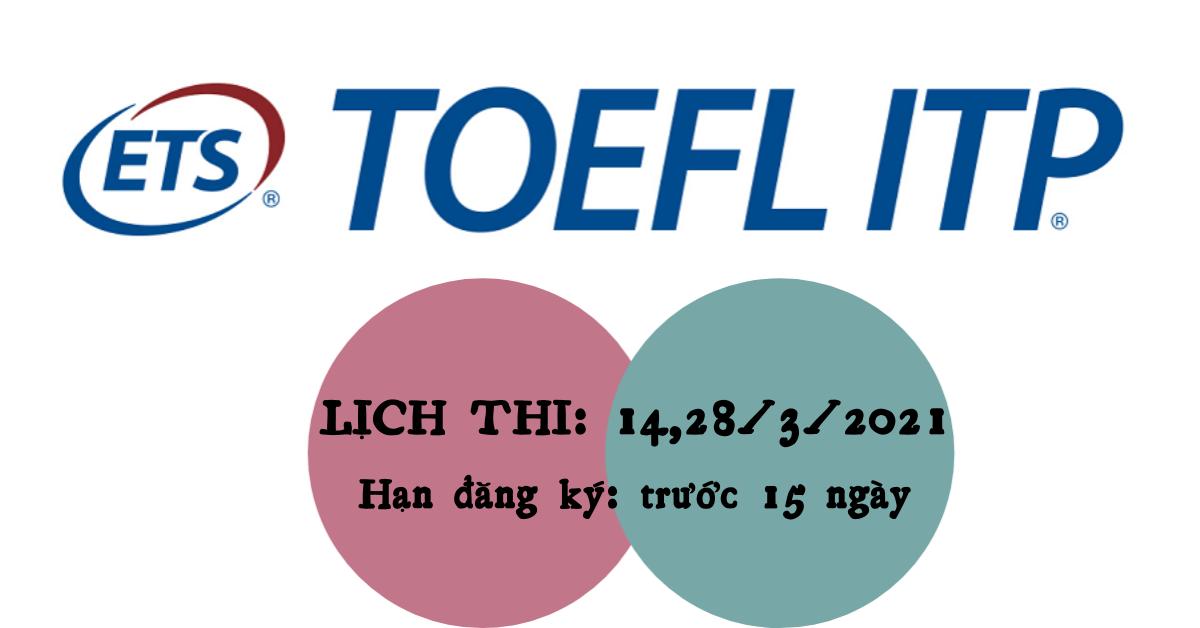 Lịch thi Toefl ITP
